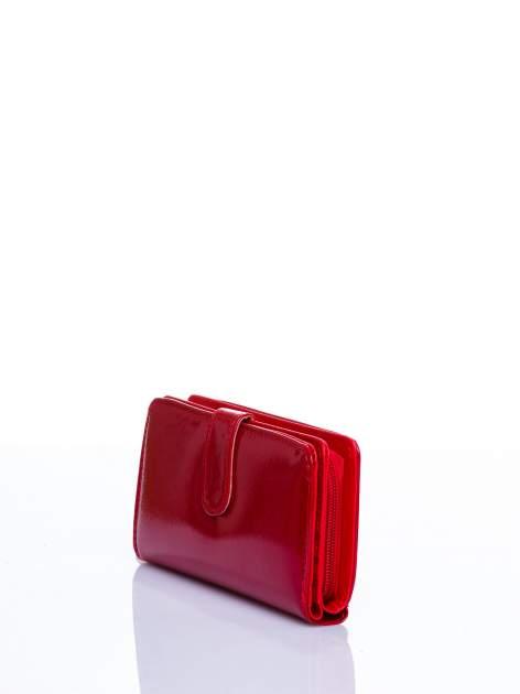 Czerwony portfel efekt skóry saffiano                                  zdj.                                  2