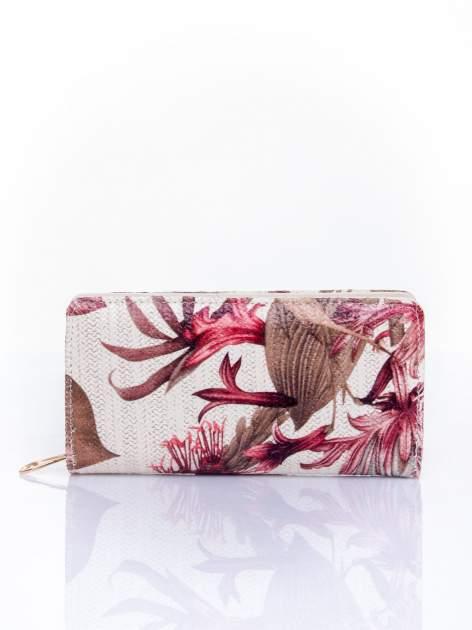 Czerwony portfel z egzotycznym nadrukiem                                  zdj.                                  1