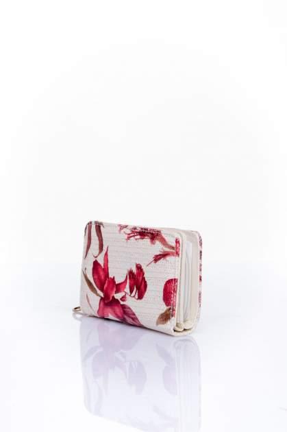 Czerwony portfel z kwiatowym nadrukiem                                  zdj.                                  3