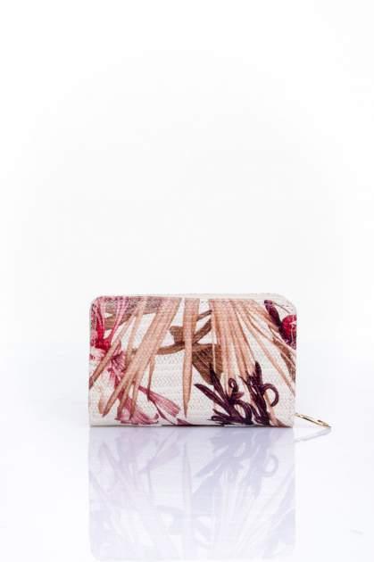 Czerwony portfel z kwiatowym nadrukiem                                  zdj.                                  2