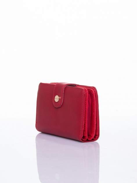 Czerwony portfel z zatrzaskiem                                  zdj.                                  3