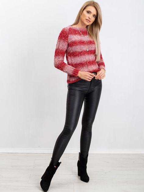 Czerwony sweter Betty                              zdj.                              4