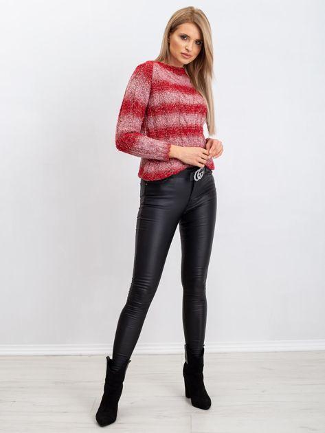 Czerwony sweter Harper                              zdj.                              4