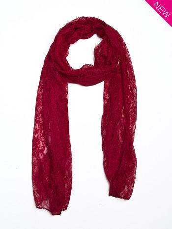 Czerwony szal koronkowy                                  zdj.                                  1