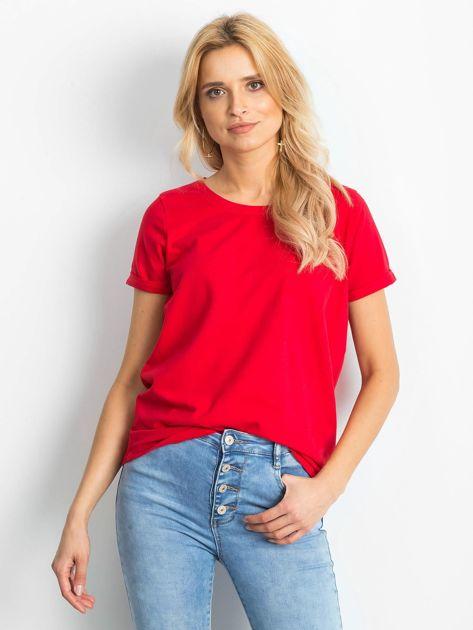 Czerwony t-shirt Transformative                              zdj.                              1