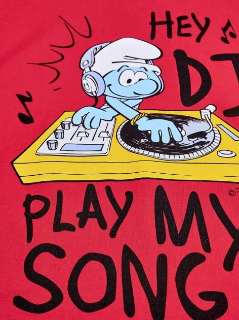 Czerwony t-shirt chłopięcy SMERFY                                  zdj.                                  4
