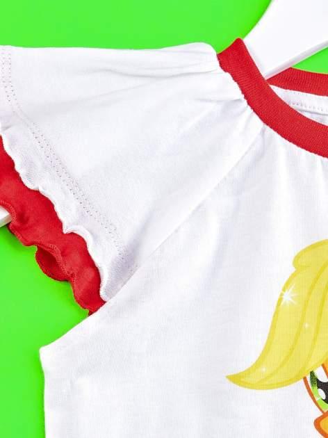 Czerwony t-shirt dla dziewczynki MY LITTLE PONY                                  zdj.                                  3