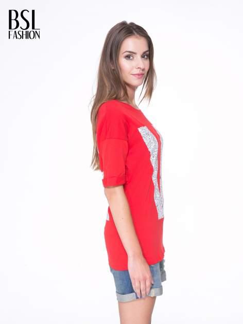 Czerwony t-shirt z nadukiem WIBE z przodu i na plecach                                  zdj.                                  4