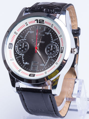 DLA NIEGO... Czarno-biały gustowny zegarek męski                                   zdj.                                  1