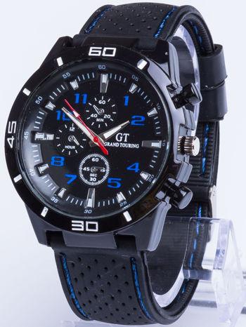 DLA NIEGO... Czarno-niebieski sportowy zegarek męski GT GRAND TOURING                                  zdj.                                  1