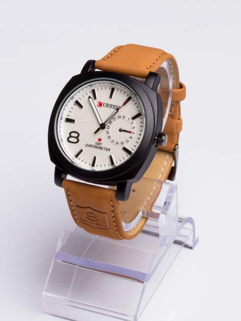 DLA NIEGO... Elegancki sportowy zegarek męski na miękkim skórzanym pasku                                  zdj.                                  2