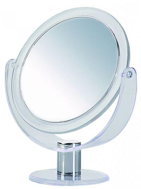 DONEGAL Dwustronne lusterko kosmetyczne Powiększenie x 5 stojące 24x18cm (4539)