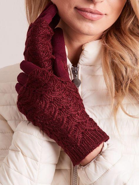 DOTYKOWE Rękawiczki damskie 2 w 1 rękawiczki + mitenki