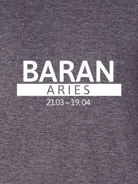 Damska bluza ze znakiem zodiaku BARAN ciemnoszara                              zdj.                              2