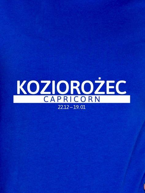 Damska bluza ze znakiem zodiaku KOZIOROŻEC kobaltowa                                  zdj.                                  2