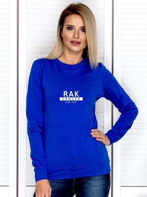 Damska bluza ze znakiem zodiaku RAK kobaltowa                              zdj.                              1