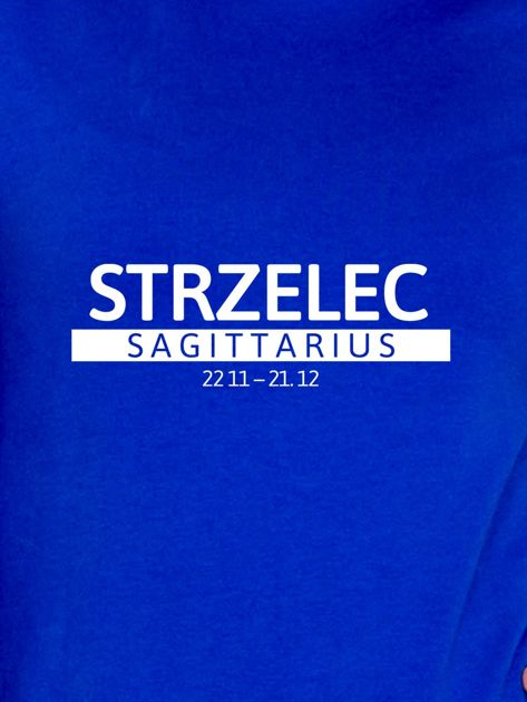 Damska bluza ze znakiem zodiaku STRZELEC kobaltowa                              zdj.                              2
