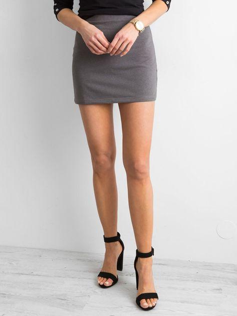 Damska spódnica mini ciemnoszara                               zdj.                              5