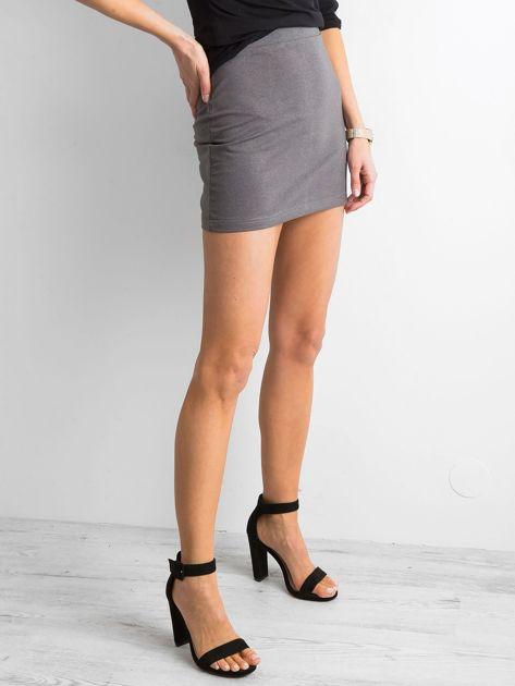 Damska spódnica mini ciemnoszara                               zdj.                              3