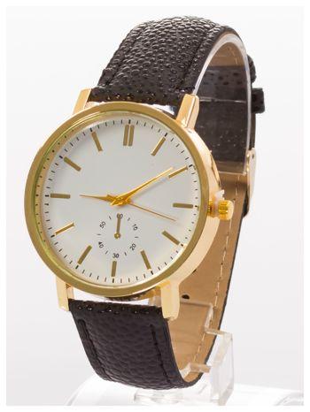 Damski zegarek. Duża, wyraźna tarcza. Elegancki. Ozdobny datownik. Doskonały na każdą okazję.                                   zdj.                                  2