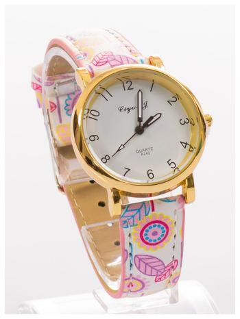 Damski zegarek z motywem kwiatowym na pasku                                  zdj.                                  3