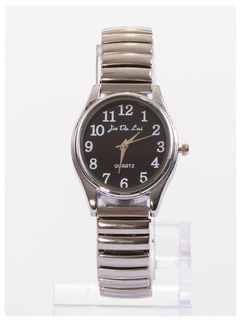 Damski zegarek z owalną tarczą na elastycznej bransolecie                                   zdj.                                  1