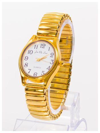 Damski zegarek z owalną tarczą na elastycznej bransolecie                                   zdj.                                  2