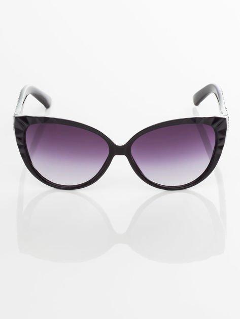 Damskie okulary przeciwsłoneczne z przepięknymi tłoczeniami na oprawkach                                zdj.                              2