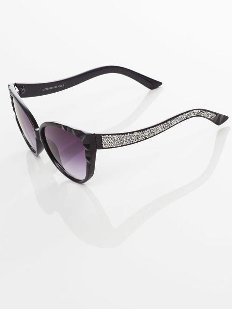 Damskie okulary przeciwsłoneczne z przepięknymi tłoczeniami na oprawkach                                    zdj.                                  4