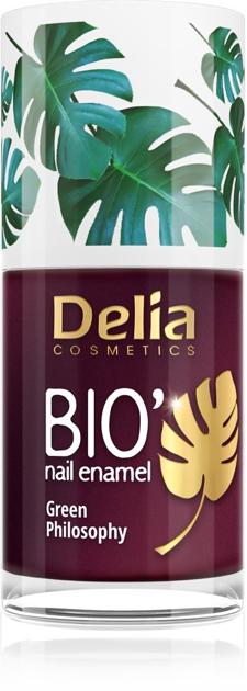 "Delia Cosmetics Bio Green Philosophy Lakier do paznokci nr 614 Plum  11ml"""
