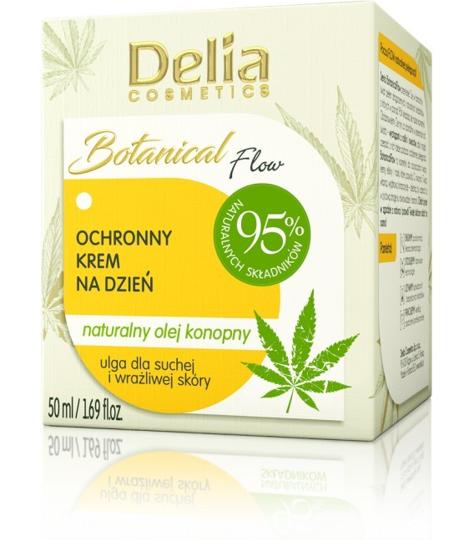 """Delia Cosmetics Botanic Flow Krem ochronny z olejem konopnym na dzień  50ml"""""""