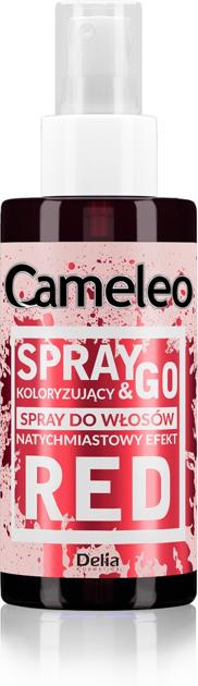 """Delia Cosmetics Cameleo Spray & Go Spray koloryzujący do włosów - RED  150ml"""""""
