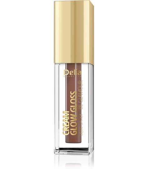 """Delia Cosmetics Cream Glow Gloss Pomadka w płynie nr 208 Brownie  5ml"""""""