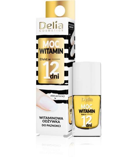 """Delia Cosmetics Efekt w 12 dni Odżywka do paznokci Moc Witamin-witaminowa 11ml"""""""