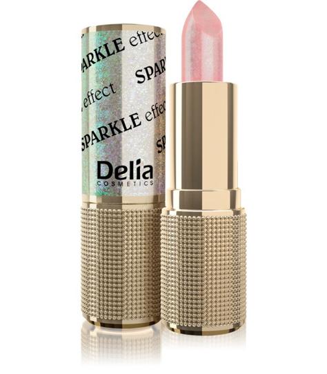 "Delia Cosmetics Glamour Pomadka do ust Sparkle Effect nr 603 crazy love  4g"""