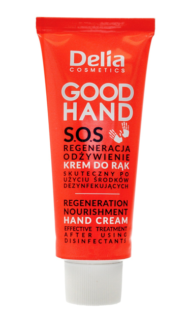 """Delia Cosmetics Good Hand S.O.S Krem do rąk Regeneracja i Odżywienie  75ml"""""""