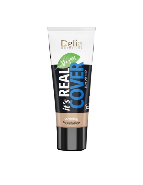 """Delia Cosmetics It's Real Cover Podkład kryjący rewitalizująco-nawilżający nr 203 Latte  30ml"""""""