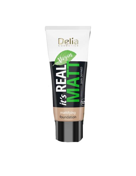 """Delia Cosmetics It's Real Matt Podkład matujący odżywczo-nawilżający nr 104 Sand 30ml"""""""