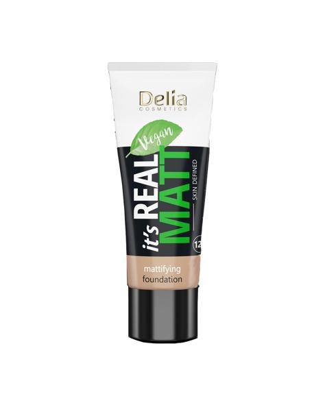 """Delia Cosmetics It's Real Matt Podkład matujący odżywczo-nawilżający nr 106 Coffee 30ml"""""""
