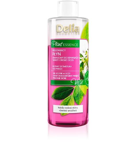 """Delia Cosmetics Plant Essence Pielęgnujący Płyn dwufazowy do demakijażu twarzy i oczu 200ml"""""""