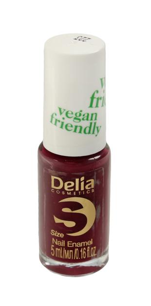 "Delia Cosmetics Vegan Friendly Emalia do paznokci Size S nr 223 Secret Kiss  5ml"""