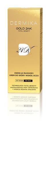 """Dermika Gold 24k Total Benefit Krem-esencja młodości pod oczy  15ml"""""""