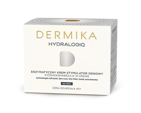 """Dermika HydraLogiq 40+ Enzymatyczny Krem-stymulator odnowy na noc  50ml"""""""