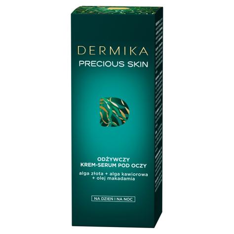 """Dermika Precious Skin Odżywczy Krem-serum pod oczy na dzień i noc 15ml"""""""
