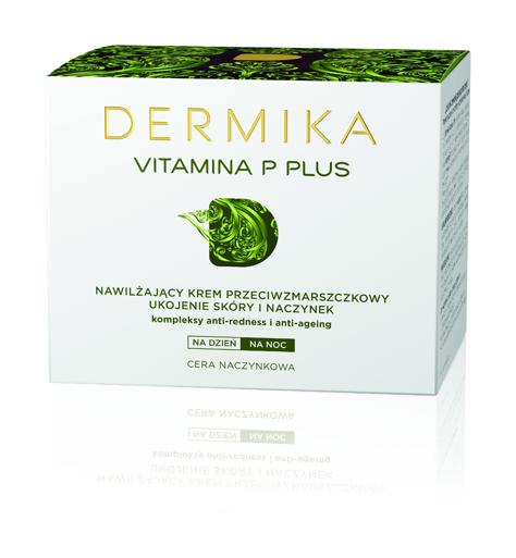 """Dermika Vitamina P Plus Krem przeciwzmarszczkowy nawilżający na dzień i noc  50ml"""""""