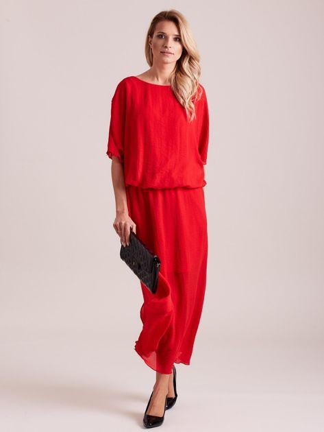 Długa zwiewna sukienka czerwona                              zdj.                              6