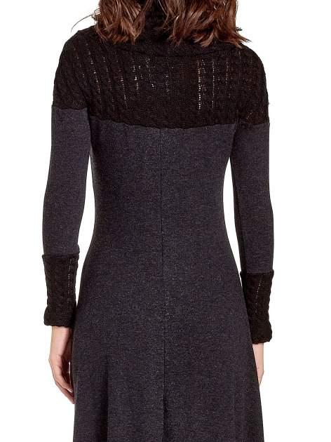 Dzianinowa sukienka maxi z warkoczowym golfem                                  zdj.                                  6