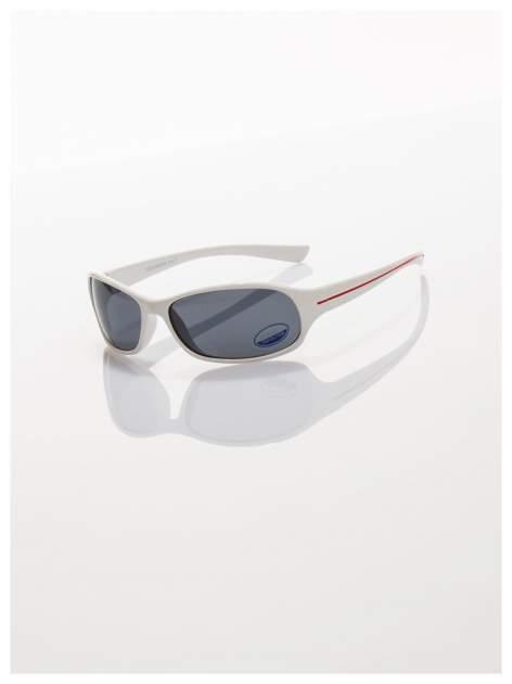 Dziecięce białe okulary przeciwsłoneczne z filtrami                                   zdj.                                  1