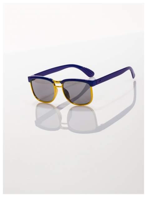 Dziecięce niebieskio-złote okulary przeciwsłoneczne z filtrami