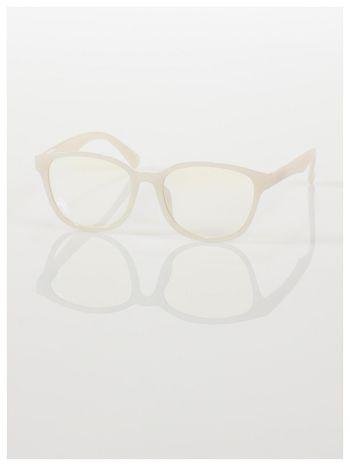 ECRU! Modne okulary zerówki klasyczne - soczewki ANTYREFLEKS,system FLEX na zausznikach                                  zdj.                                  3